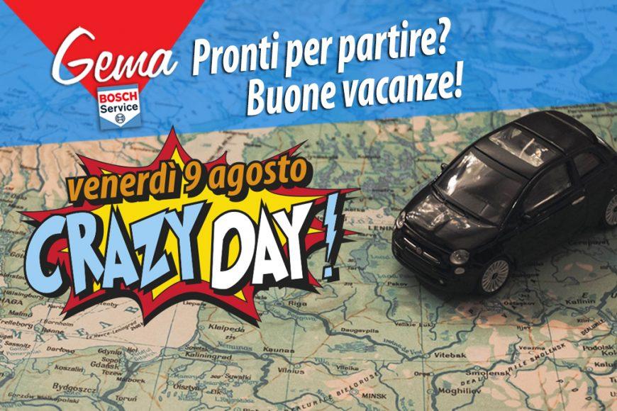 Pronti per partire? Con il CRAZY DAY Gema vi augura buone vacanze!