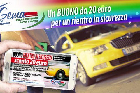 Un Buono sconto di 20 euro per un rientro in sicurezza!